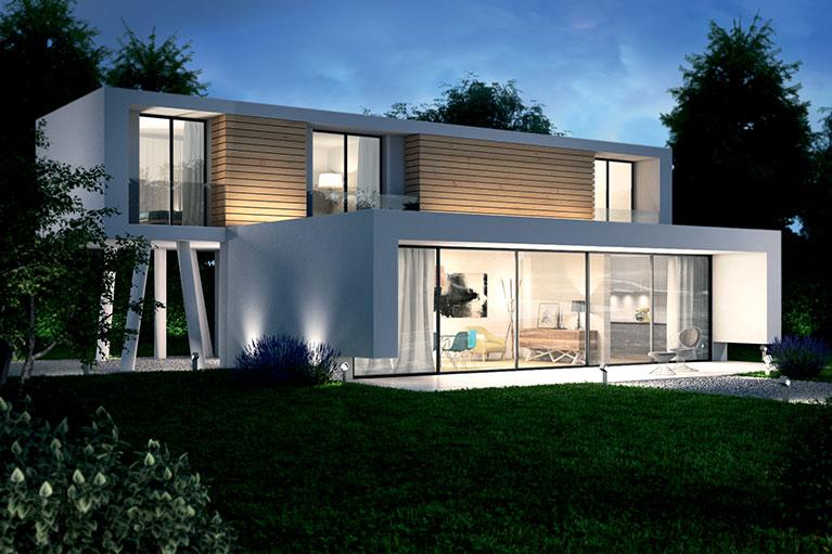 casa in legno contemporanea