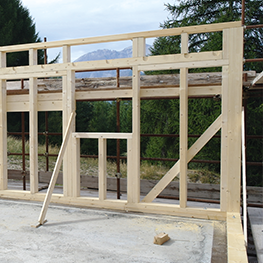 case in legno a telaio